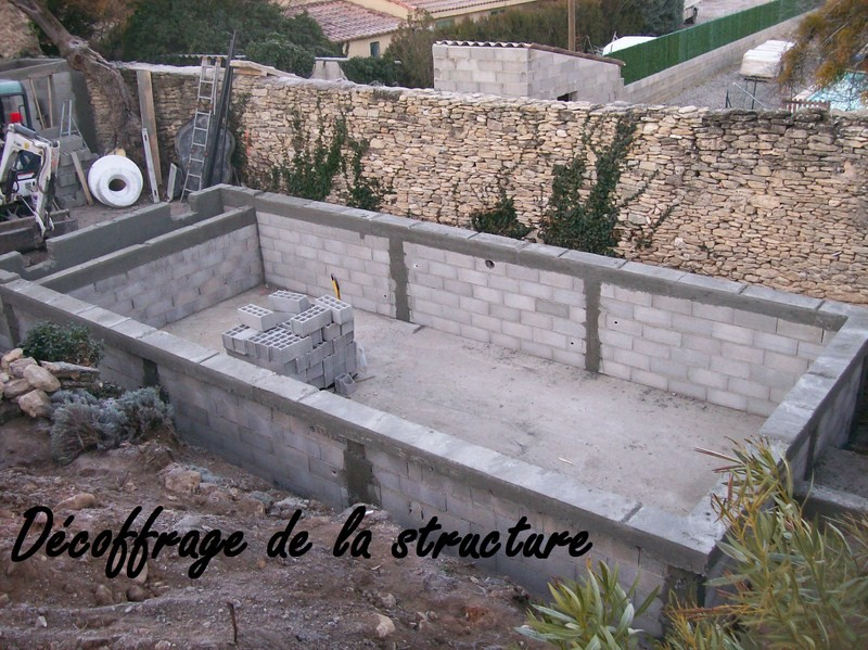 Les tapes pour la construction en ma onnerie for Construction piscine traditionnelle